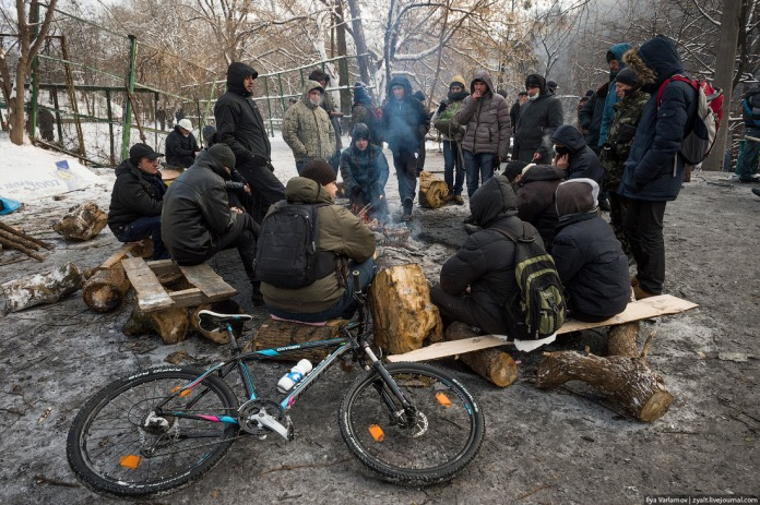 People get warm next to a campfire. Is revolution possible without a bicycle? I say no!