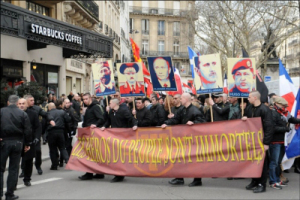 The Third Way march, with their Icons in