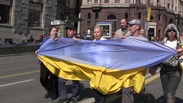 Russian Civil Activists, 1st May 2014 Moscow. The activsts were arrested and sentenced to fines and 10 days in prison.