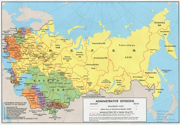 """A glance at that map reveals the diversity and fragility of that """"Union"""""""