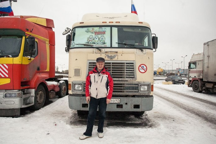 Valery, 49, individual entrepreneur. Has driven his own MAN truck since 2008. Has been driving since 1987. Got behind the wheel in the army, then worked in the motor pool of a port. Did his army service in Poland, and in 1988 worked as a driver near Chernobyl. Married with two grown children and a 4-year-old granddaughter.